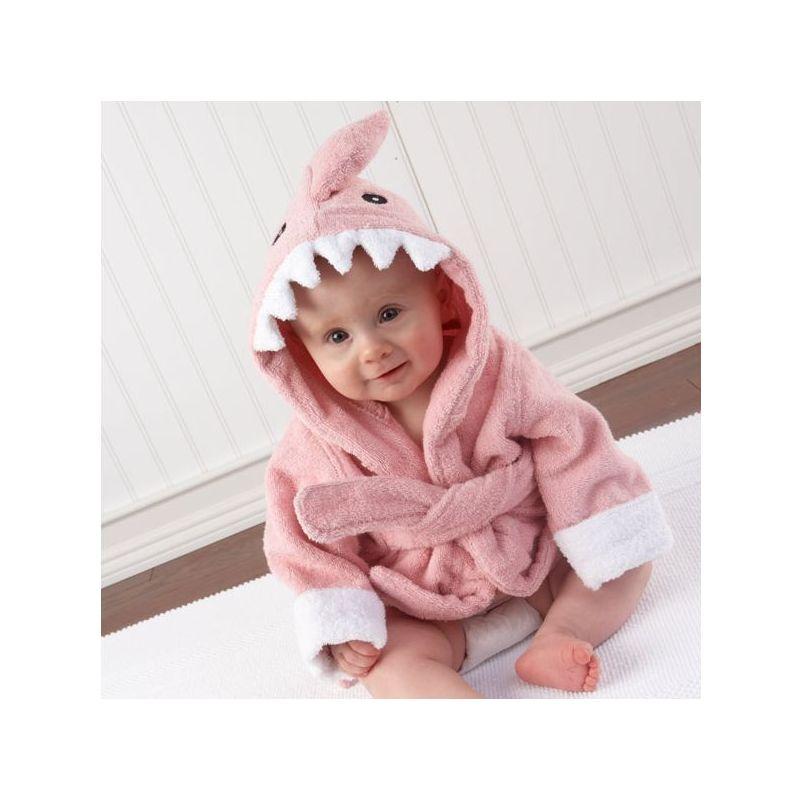 Requin rose saumon peignoir naissance pour un cadeau original - Requin rigolo ...