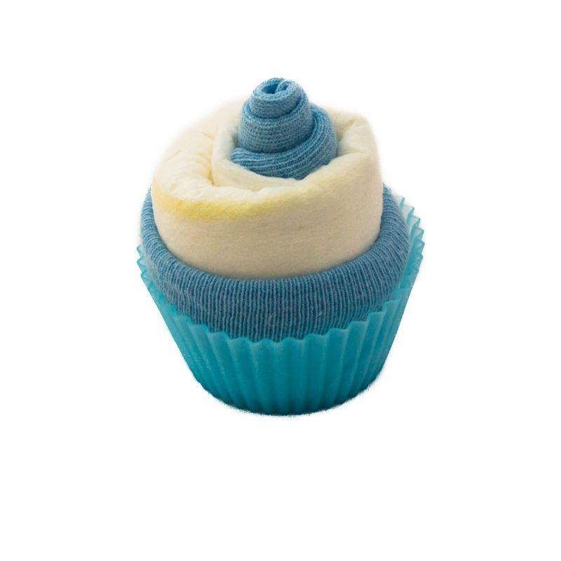 cadeau baby sower et de naissance : Cupcake de couche : Bleu