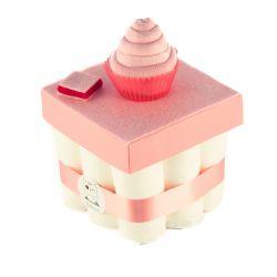 Gâteau de couches : Rose pour une super cadeau de naissance