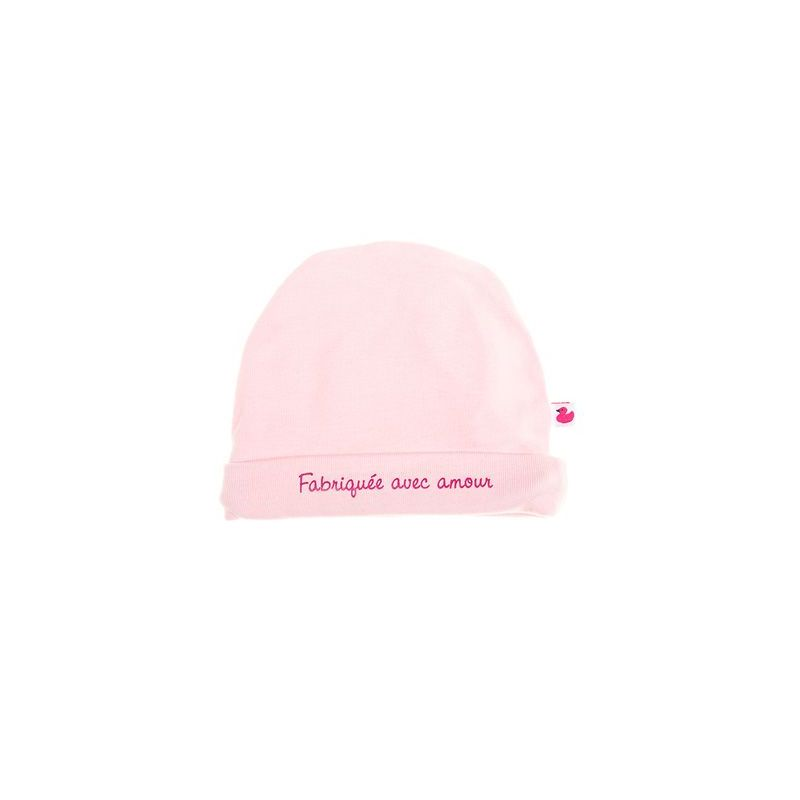 d230faedac06 bonnet naissance fabriquée avec amour - cadeau de naissance original