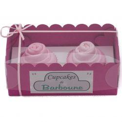 Gâteaux de bavoirs : Rose ou cupcakes naissance cadeau naissance