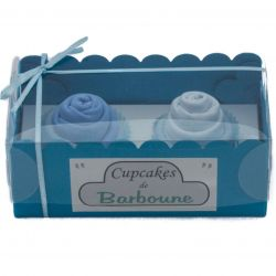 Gâteaux de bavoirs : Bleu pour cadeau insolite cadeau naissance