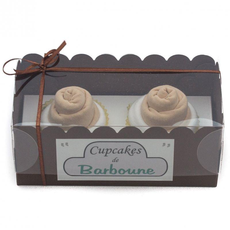 Gâteaux de bavoirs : cupcakes chocolat pour baby shower