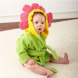 Sortie de bain FLEUR pour bébé