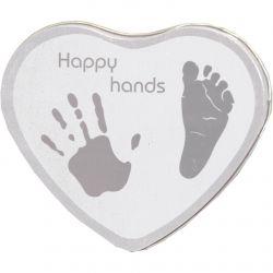 Le Kit empreintes bébé : coeur argenté