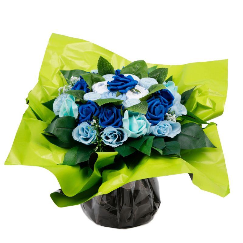bouquet naissance original de layette pour garcon cadeau naissance