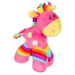Peluche cadeau bébé cheval rose