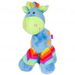 Peluche cadeau bébé cheval : bleu