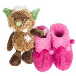 Chaussons pour bébé  lutin rose