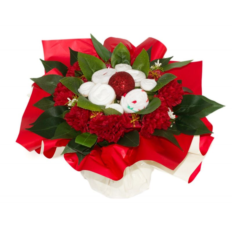 bouquet naissance original de layette pour noel