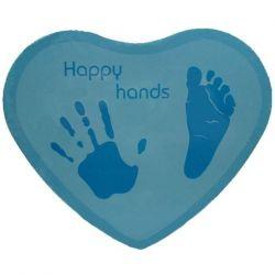 Le Kit empreintes bébé : coeur bleu