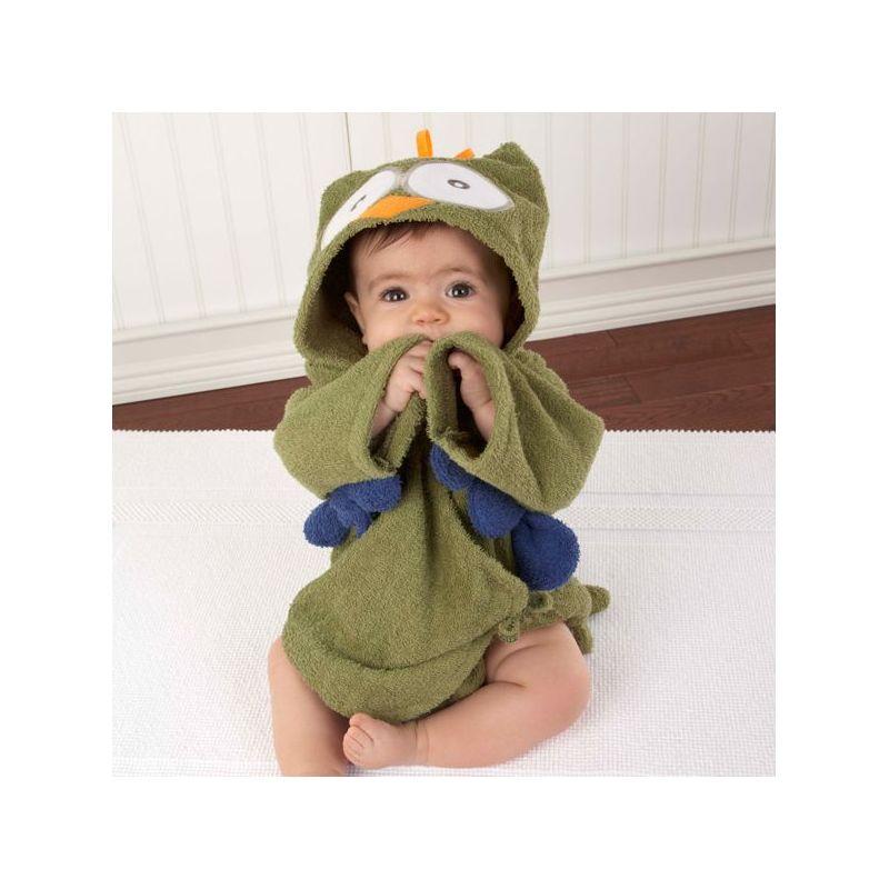 Sortie de bain CHOUETTE vert