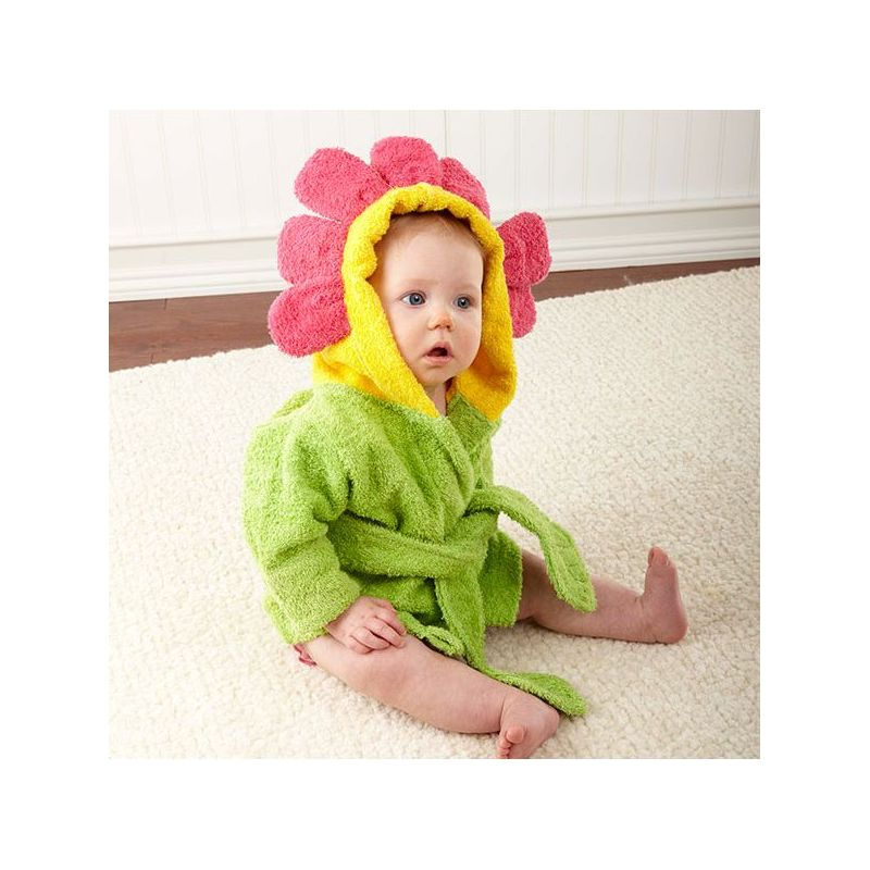 Peignoir pour bébé fleur cadeau naissance