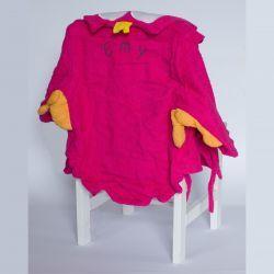 Sortie de bain CHOUETTE pour bébé - peignoir personnalisé  rose