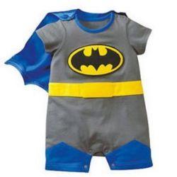 Ensemble Super Héro gris cadeau naissance