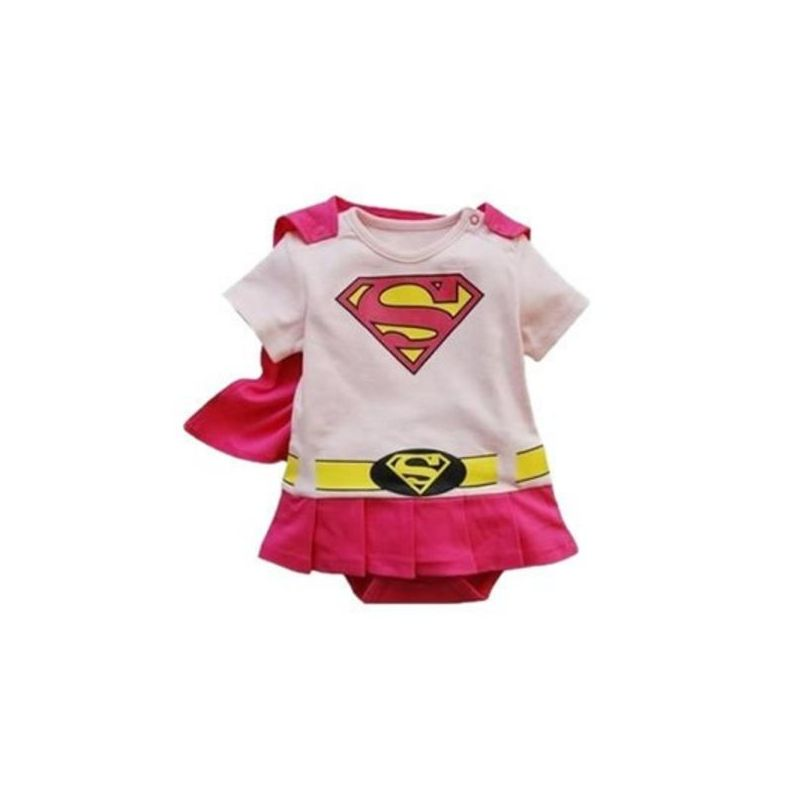 Ensemble Super Héroïne rose cadeau naissance