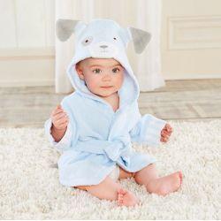 Sortie de bain CHIOT BLEU pour bébé