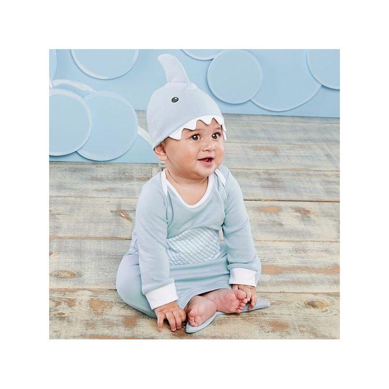 Chemise de nuit et bonnet pour bébé requin bleu