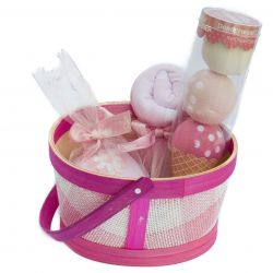 Panier Naissance : cadeaux gourmands Fille