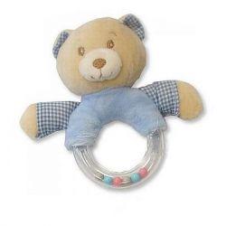 Hochet Ours bleu cadeaux naissance