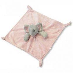 Doudou éléphant rose cadeau naissance
