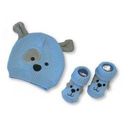 Bonnet et chausson Chien cadeau bébé