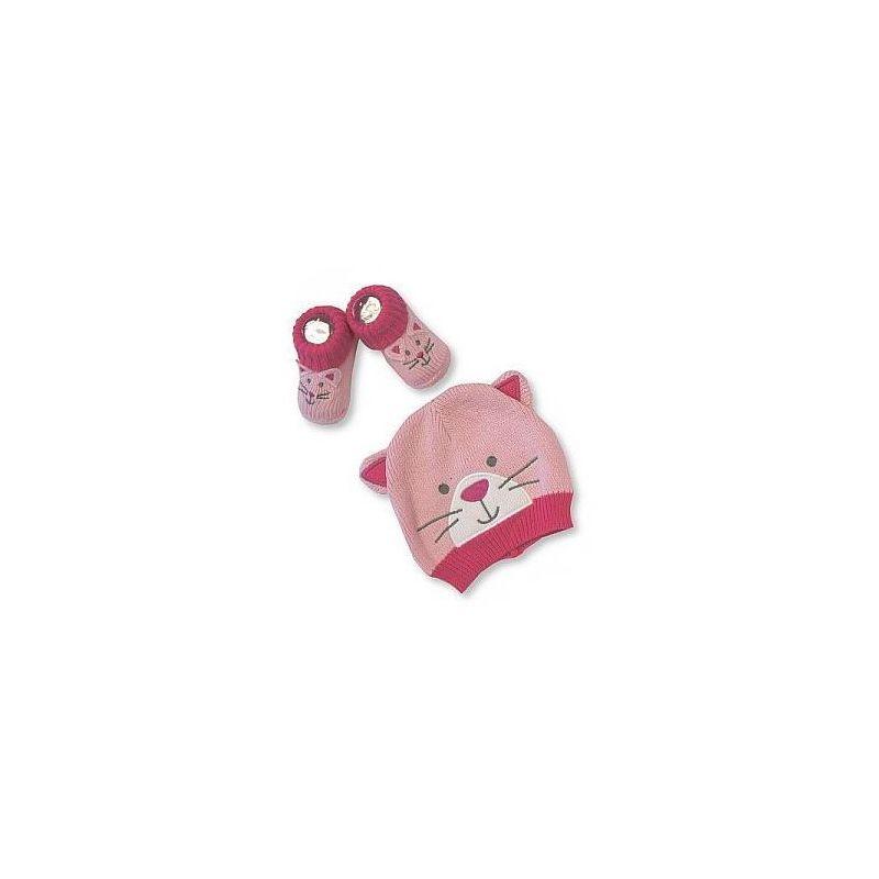 Bonnet et chausson Chat cadeau naissance
