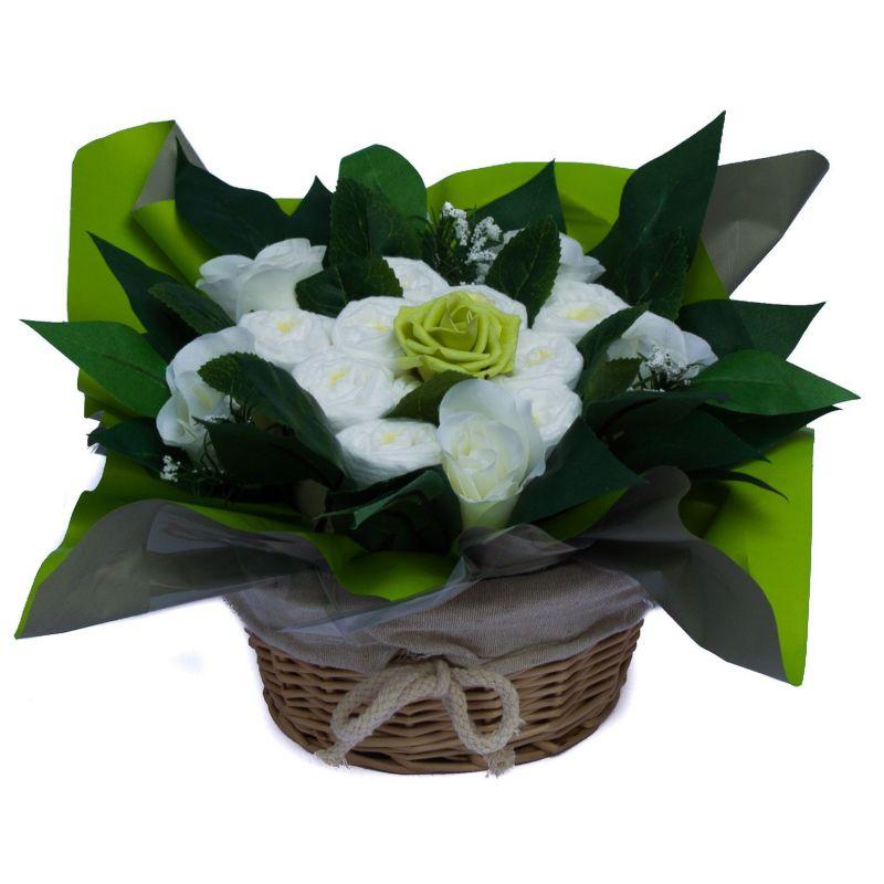 baby shower bouquet gateau de couches vert cadeau naissance