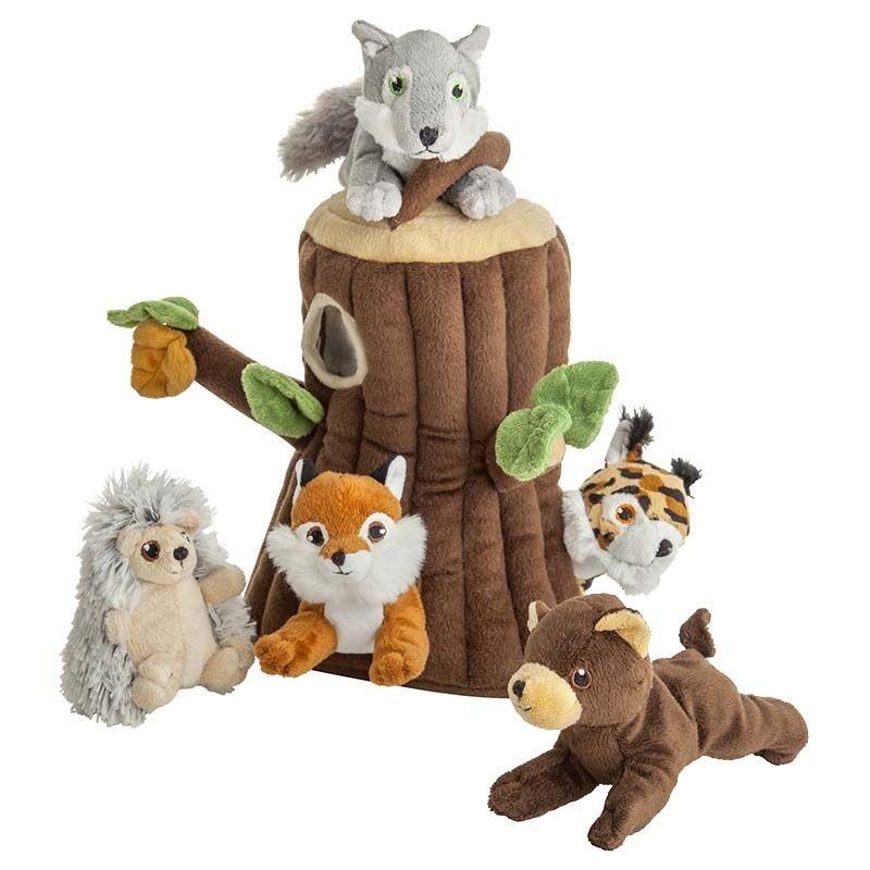 Ensemble cadeau naissance : Peluches amis de la forêt