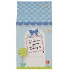 Maison cadeau de bienvenue : Bleu