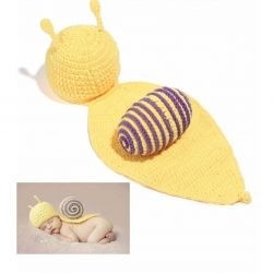 Tenue bébé en crochet : Escargot