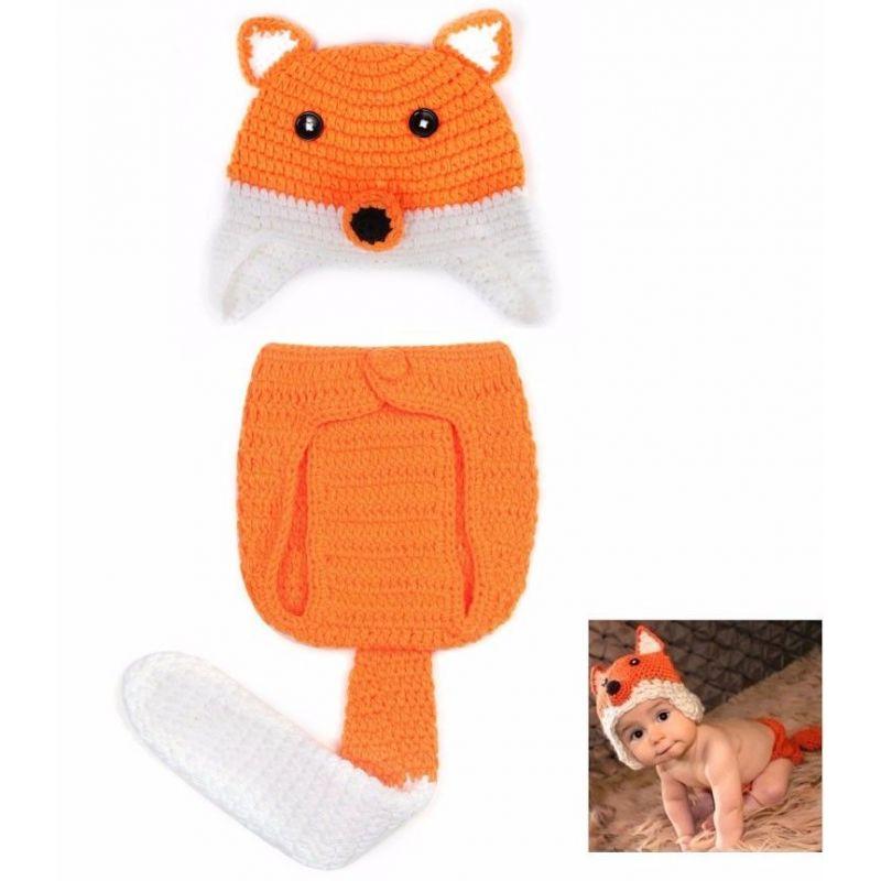 déguisement bébé Tenue en crochet : Renard