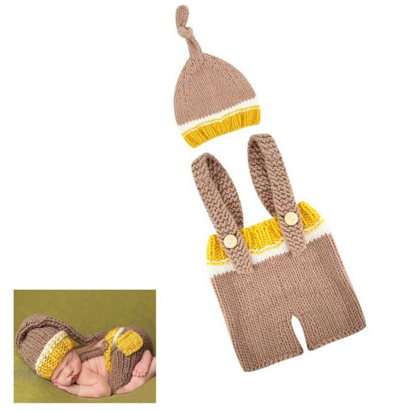 déguisement bébé Tenue en crochet : Marron