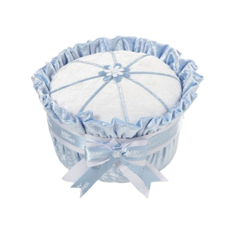 baby shower Gâteau de couches : velours bleu