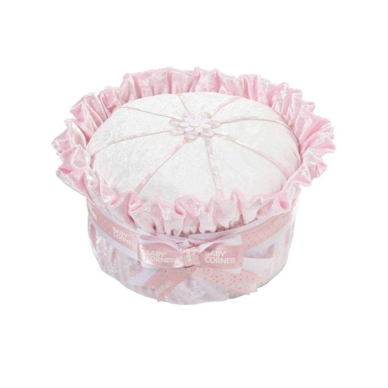 baby shower Gâteau de couches : velours rose