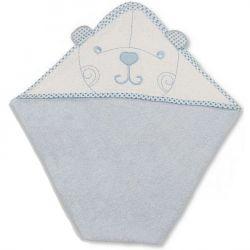 Grande cape de bain : Ours bleu