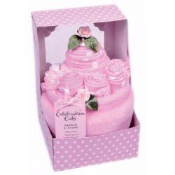 Gâteau de naissance : Rose
