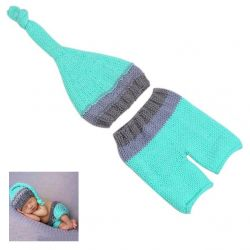 Tenue en crochet : Bleu