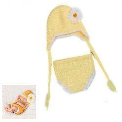 Tenue bébé en crochet : Fleur