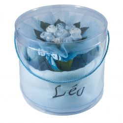 Bouquet de naissance personnalisé  : bleu