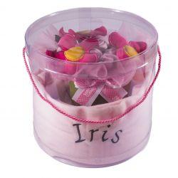 Grand Bouquet de naissance personnalisé  : Rose