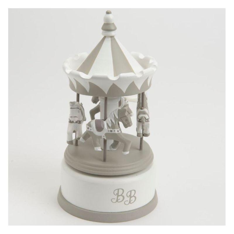 Boîte à musique : Carrousel musical blanc
