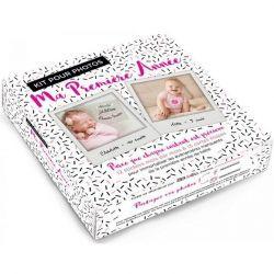 Kit pour photos bébé fille : ma première année
