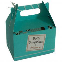 Boite surprises : Peignoir personnalisé et chausson spa bleu