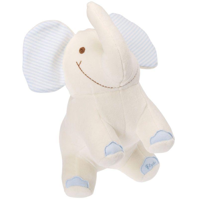 Peluche éléphant bleu en coton organique