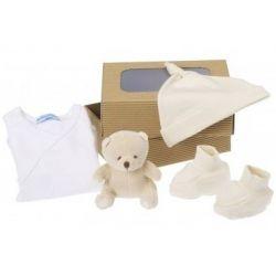 Coffret naissance bio : petit Ours beige