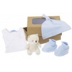 Coffret naissance bio : petit Ours bleu