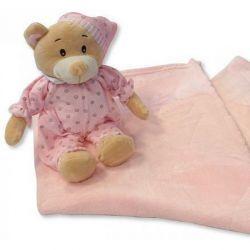 L'Ours dodo et sa Couverture bébé rose
