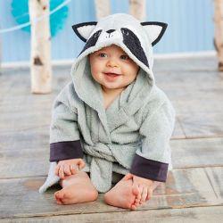 Peignoir bébé personnalisé : Raton laveur