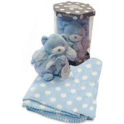 Boite couverture et doudou bleu personnalisée